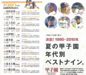 雑誌が選んだ80年代のベストナインに江上さんの名前が